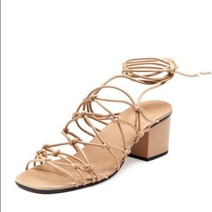 fb565286090 Chloe Shoes - Chloe Knotted Gladiator Sandal 40 nude ankle wrap